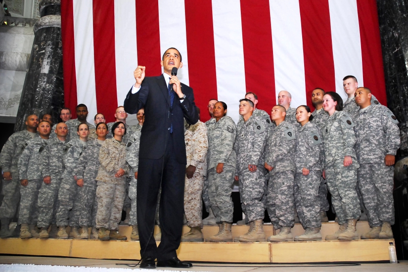 President Obama visits Iraq, addresses service members and government employees
