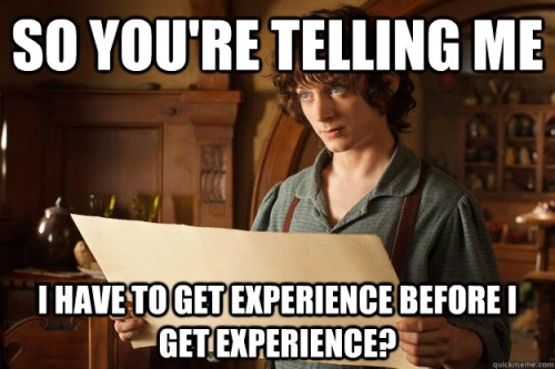 Huh? Experience beforeexperience?!