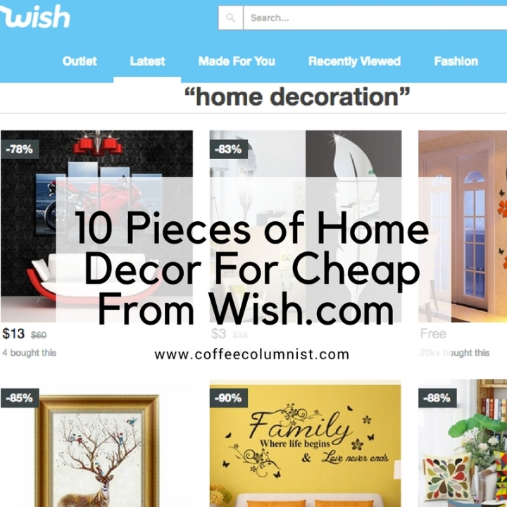10 Pieces of Home Decor For Cheap From Wish.com