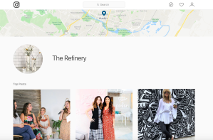 Photo of The Refinery's location page on Instagram